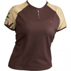 Specialized Womens Short Sleeve Trail Cycling Jersey BROWN