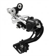2240 SHIMANO DEORE XT ACHTERVERSNELLING M786 10 SPEED SGS SHADOW ZILVE