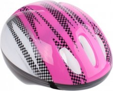 BIKE FUN KINDERHELM ROZE/WIT 50/54 CM