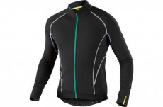 MAVIC COSMIC ELITE THERMO LONG SLEEVE JERSEY BLACK/GREEN